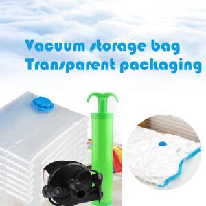 cn aspirateur scell sac v tements transparent compression pochette conomie ebay. Black Bedroom Furniture Sets. Home Design Ideas
