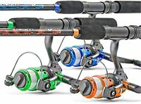 South Bend Worm Gear Spinning Fishing Combo - Green Blue Or Orange