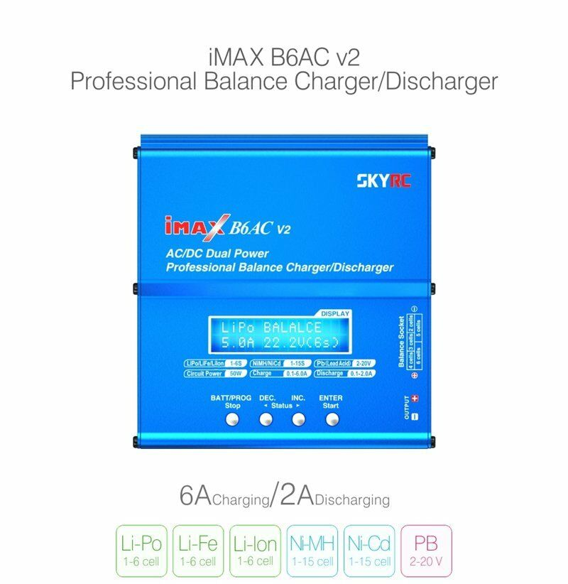 Skyrc IMAX B6AC V2 AC dc Dual Power Profesional Lipo Batería cargador de equilibrio