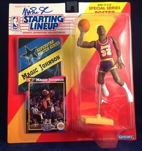 Magic Johnson signed 1992 Edition Starting Lineup PSA/DNA #6A43282