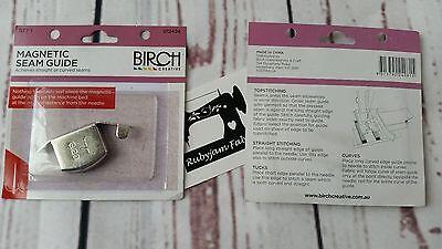 Birch Magnetic Seam Guide for sewingmachine sew curve//straight seam FREEPOSTAU