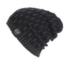 Unisex Men Women Warm Crochet Winter Wool Knit Ski Beanie Skull Slouchy Caps Hat