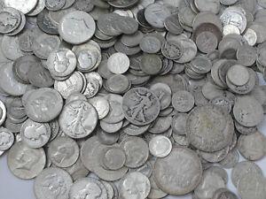 Circulated Bullion No Junk Walking Liberty Half Dollar 90/% Silver Coin Lot