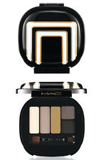 NEW 5 Color MAC Stroke of Midnight SMOKY Eye Shadow Palette Gold Carbon Brush