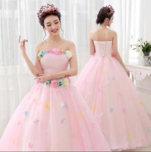Fashion Korean Style Pregnant Wedding Dress Colorful Flowers