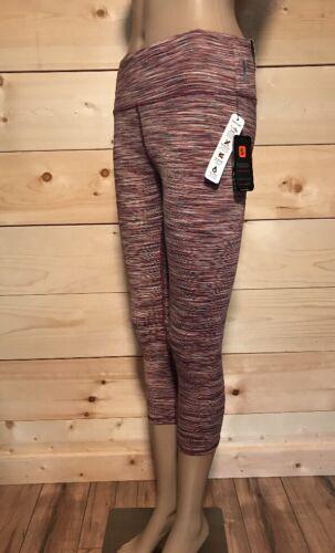 RBX Women Capri legging Small Medium Large /& XL Pink Multi Space Dye NWT $58.