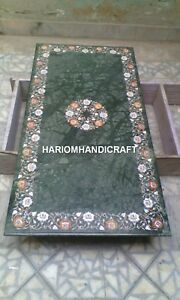 Marble Dining Table Top Inlay Marquetry Mosaic Arts Furniture Garden Decor H1977