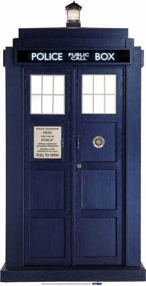 Dr Who The Tardis (2 3 Lebensechte Größe) Pappfigur
