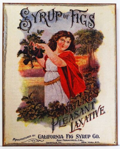 Syrup of Figs Natures Pleasant Laxative Remedy Health Metal Sign