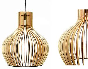 Holz Hängele hängeleuchte deckenle modern medium pendelleuchte design holz neu