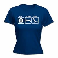 Eat Sleep Scuba Dive LADIES T Shirt slogan tee gift funny present diver diving