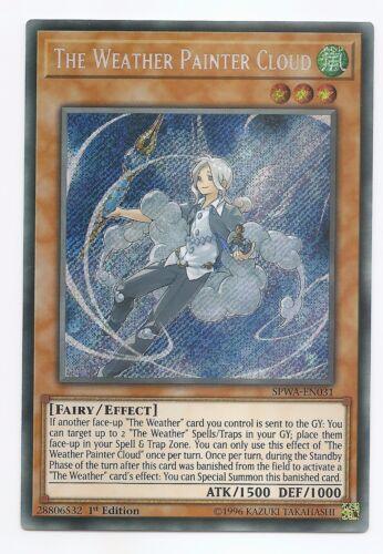 kaartspellen The Weather Painter Cloud SPWA-EN031 Secret Rare Yu-Gi-Oh Card 1st Edition New Verzamelingen