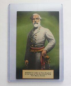 Vintage-POSTCARD-General-Robert-E-Lee-Civil-War-Military-Confederate-County-FL