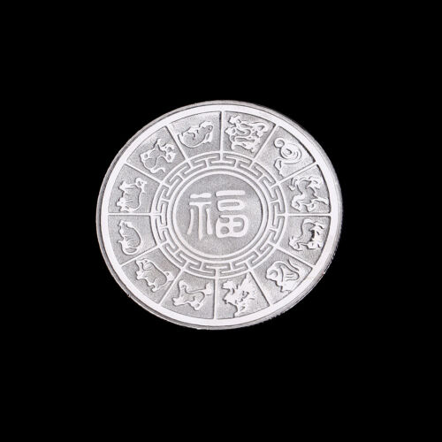 Silver plated pigs commemorative coins Chinese zodiac anniversary coin souvenirs