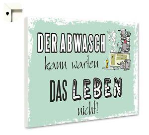 Magnettafel Pinnwand mit Spruch lustig Küche Abwasch | eBay