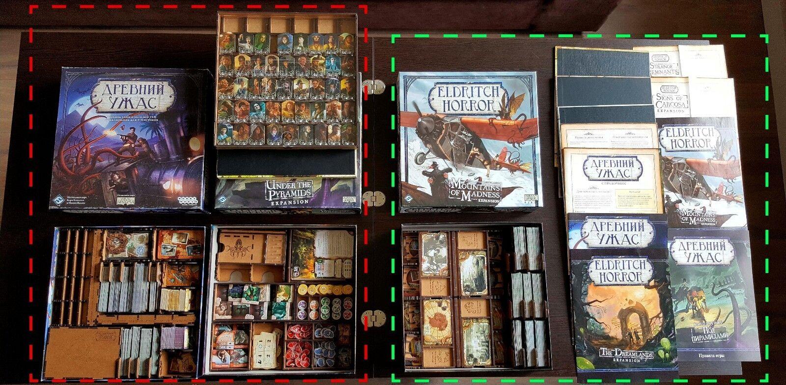 Juego De Caja Organizador Premium Para Juego De Mesa Fantasía Figura galería Eldritch Horror + Todas Las Expansiones