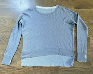 LULULEMON-Women-039-s-Over-sized-Long-Sleeve-Gray-Cotton-Crewneck-Sweater-Sz-6