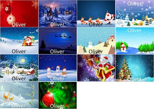 A4 personalised CHRISTMAS placemats laminated card FREE POST
