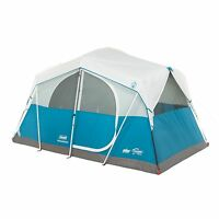Coleman Echo Lake 6 Person Fast Pitch Cabin Tent W/ 2' X 2' Cabinet | 12' X 7'