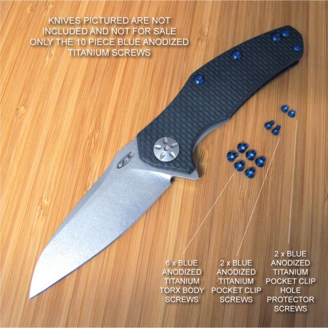 Bronze Custom Titanium Pocket Clip Made For Zero Tolerance ZT0770 ZT0770CF