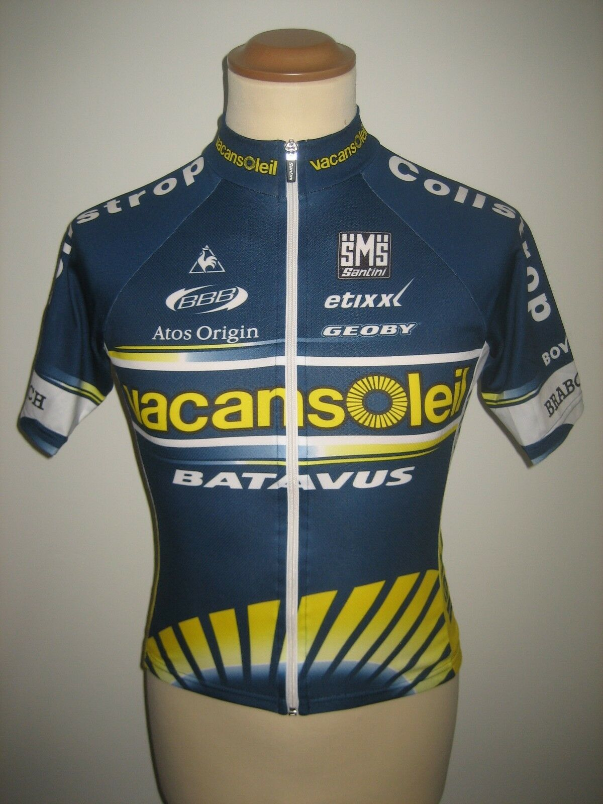 Vacansoleil WORN by maillot RIDER jersey shirt cycling maillot by trikot Batavus size XS 23766b