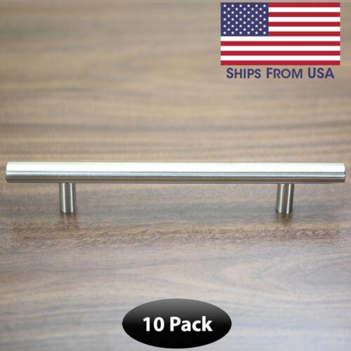 Satin Nickle  Cabinet Pull Kitchen Dresser Bar Handle CC Hole 128MM 10 Pack
