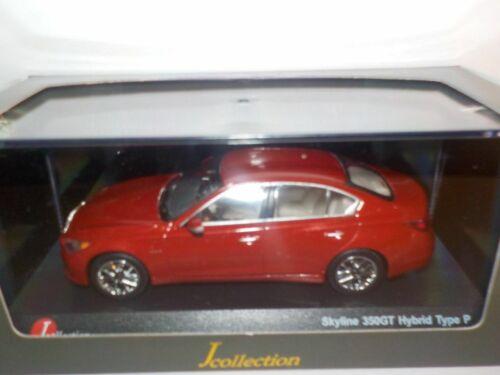 radiante rojo 1//43 Kyosho Nissan Skyline 350GT Hybrid V37