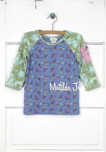New Matilda Jane Size 8 Secret Fields Pocket Full Of Posies Baseball Tee Top