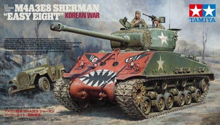 TAMIYA 1/35 M4A3E8 Sherman   FACILE OTTO   coreano GUERRA Usa Carro Armato Medio
