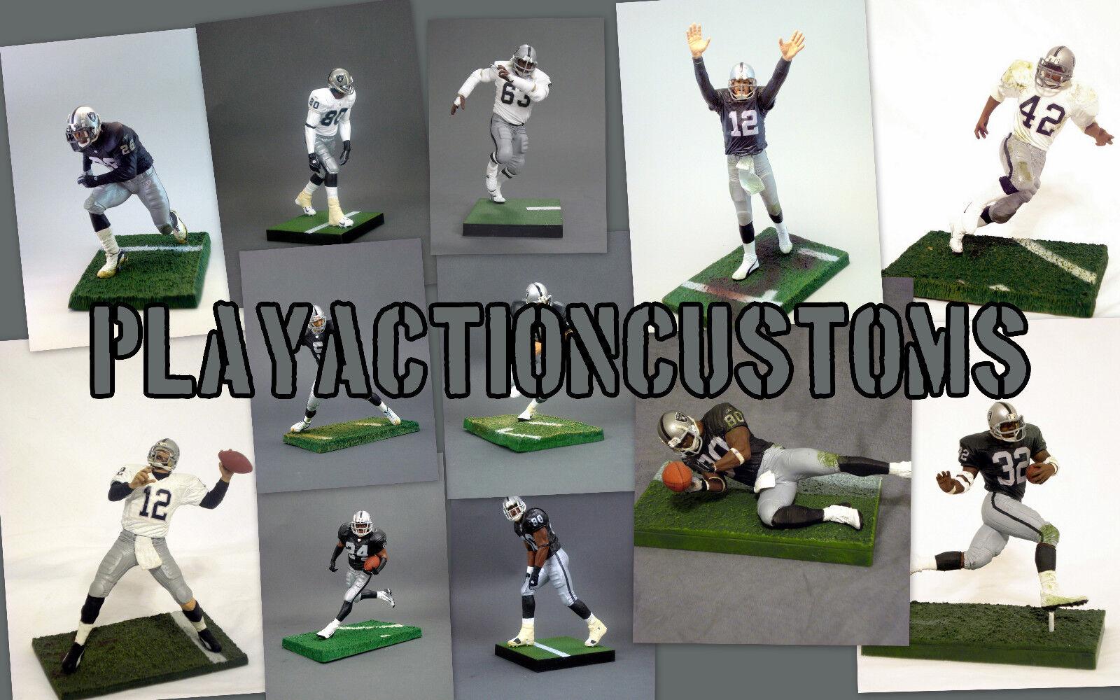 Elección de 1 Oakland Raiders figura de acción personalizada con Mcfarlane Nfl Vegas La