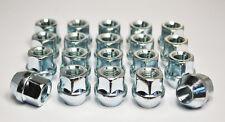 Set of 20 x M12 x 1.25, 17mm Hex Open Alloy Wheel Nuts (Silver)