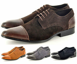 New-Mens-Faux-Suede-Casual-Formal-Lace-Up-Brogue-Shoes-UK-Sizes-6-7-8-9-10-11