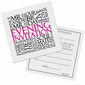 same wedding evening invitation cards invites free post