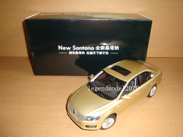 1 18 2012 nouveau Volkswagen Santana Modèle Couleur Or