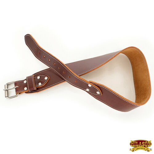 "C--XXL Xx Large Hilason Leather 3/"" Ranger Work Tool Belt 2/"" Heavy Roller Buckle"