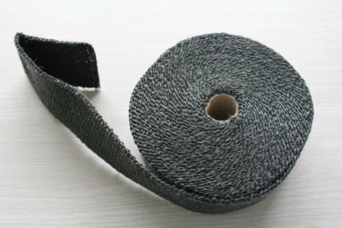 "BLACK 2/"" x 0.6METER 60MM TURBO MANIFOLD HEAT EXHAUST THERMAL WRAP/&PLASTIC TIES"