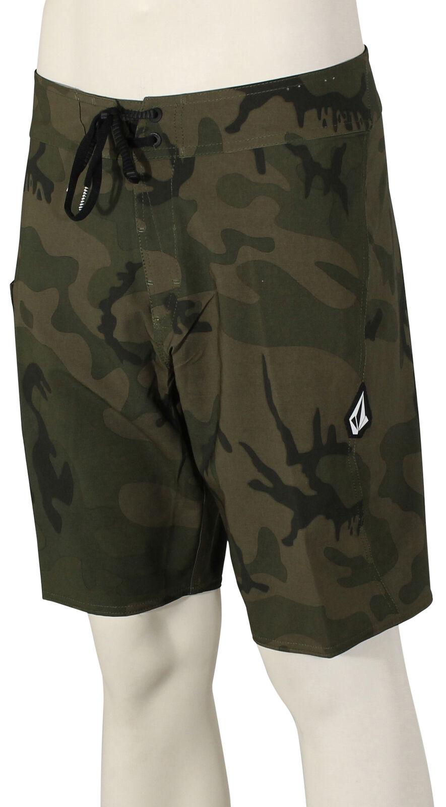 Volcom Lido Solid Mod Boardshorts - Camouflage - New