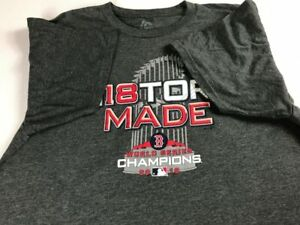 Boston Red Sox History Made T-Shirt Adult SZ S/M 2018 World Series Champions Tee