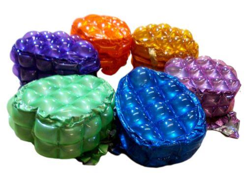 Púrpura-Lima-Nuevo Niños Pvc Inflable Burbuja paquetes trasera pequeña-Azul-Naranja-Dorado