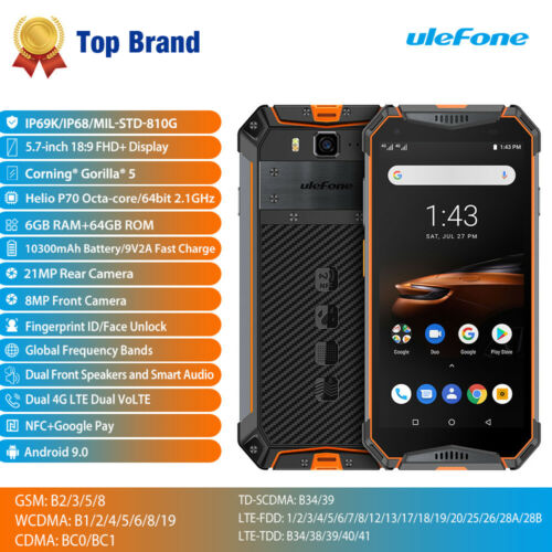 Ulefone Armor 3W IP68 waterproof Helio P70 6GB 64GB 21MP 10300mAh 4G Smartphone