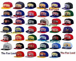 New-NBA-Mitchell-and-Ness-Mens-Double-Bonus-Snapback-Cap-Hat