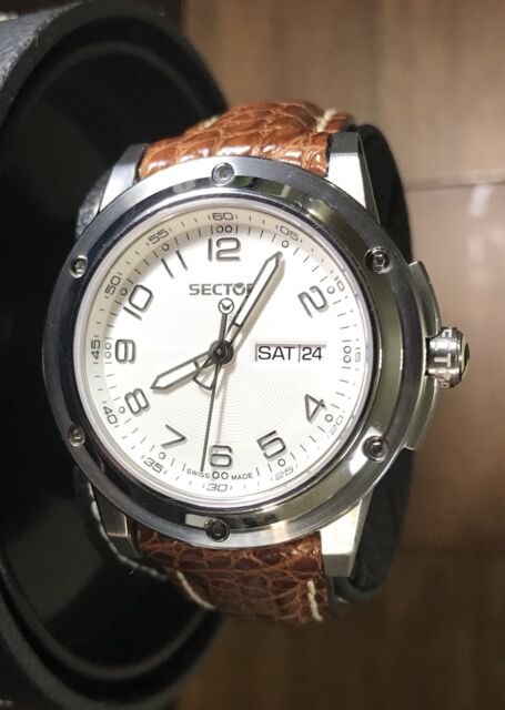 SECTOR 850 Swiss Made Men's Day/Date Leather Quartz Watch 26511105045 10ATM 40mm