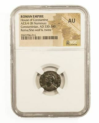 AD 330-346 NGC VF Roman AE of Urbs Roma
