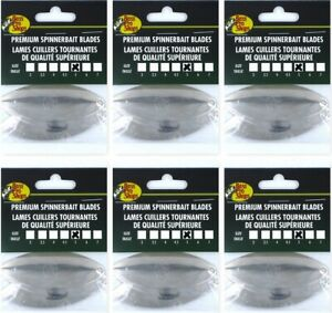 (6) Packs Of 3 Bass Pro Shops #5 Nickel Willow SpinnerBait Blades BP5W-N New