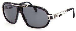 Cazal-Herren-Damen-Sonnenbrille-MOD-8018-COL-002-64mm-schwarz-silber-S-AB3-4