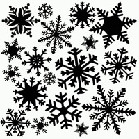 Snowflakes Stencil Flurry Stencils Big Template Craft Paint Pattern By Tcw