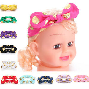 Babys-039-Toddler-Girl-Kids-Turban-Knot-Rabbit-Headband-Bow-Cotton-Hairband-Headwear