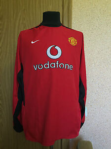 Details about MANCHESTER UNITED 2002/2004 HOME MATCH WORN? FOOTBALL SHIRT  NIKE LONG SLEEVE #7