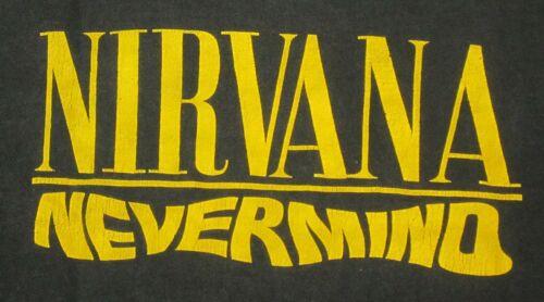 Nirvana Nevermind Smiley Vtg 90's Hanes Single Sti