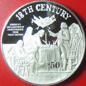 1997-COOK-ISLANDS-50-SILVER-PROOF-DECLARATION-OF-INDEPENDENCE-SIGNING-SCENE-RRR